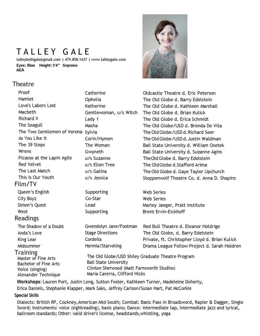 Talley Gale resume w film 2