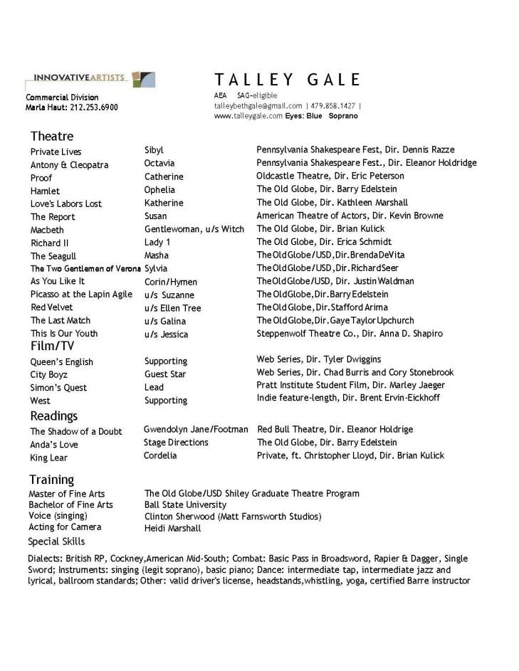 Talley Gale resume